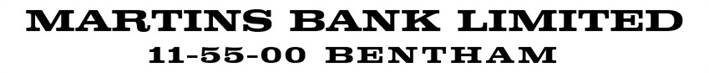1946 District Bank Logo from Cheque - MBAx1