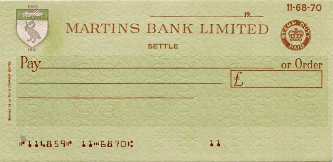 1931 Settle Cheque L C Hare Estate - MBA