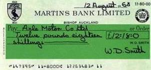 1968 Bishop auckland Cheque from Leaflet BGA Ref A-70 1968 How a bank account could help you